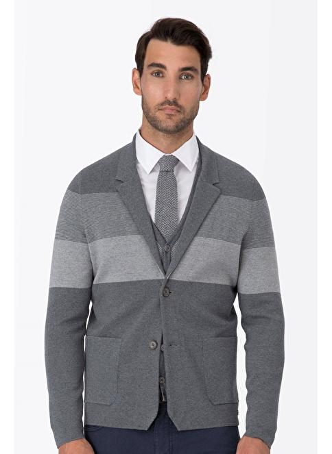 Hemington Slim Fit Yün Blazer Ceket Gri